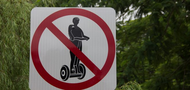 No Segway Sign